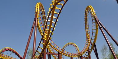 Rollercoaster - representing the fear and anxiety of COVID-19