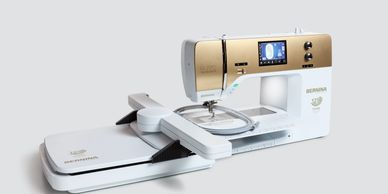 What's all behind the BERNINA 880 PLUS Anniversary Edition? Our modern 8 Series machines are equipped with numerous innovative functions and programs. Here you can get an overview of the advantages of the BERNINA 880 PLUS Anniversary Edition. Some features are only available with the latest firmware update.