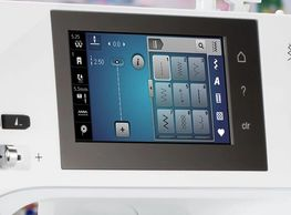 Easy to navigate touch screen, B 475 Quilters Dream, BERNINA