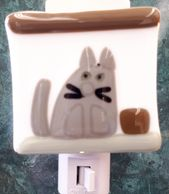 stained glass cat light switch