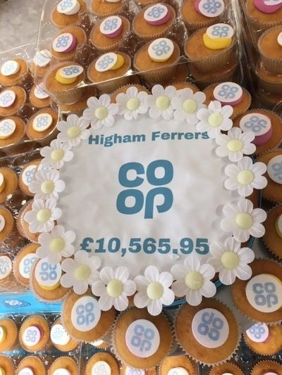 Co-op Higham Ferrers charity fundraising donations total