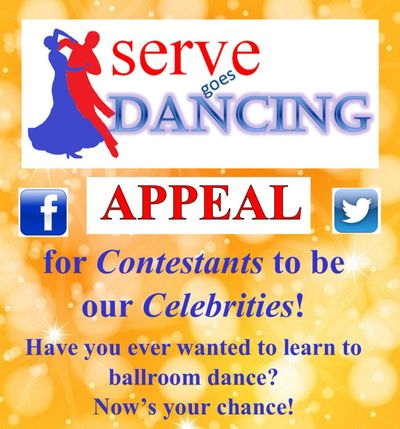 Serve goes dancing appeal poster