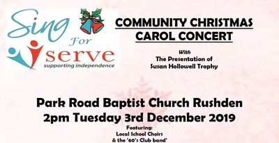 sing serve carol concert Christmas goodwill charity good cause music entertainment fundraising