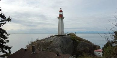 image of the lighthouse at Lighthouse Park