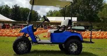 EZ Go golf cart customized by Creative Custom Carts