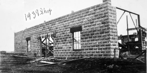 Construction of shop in 1939
