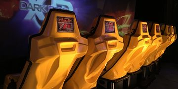 THE RiDE 7D is an 8 passenger ride simulator.