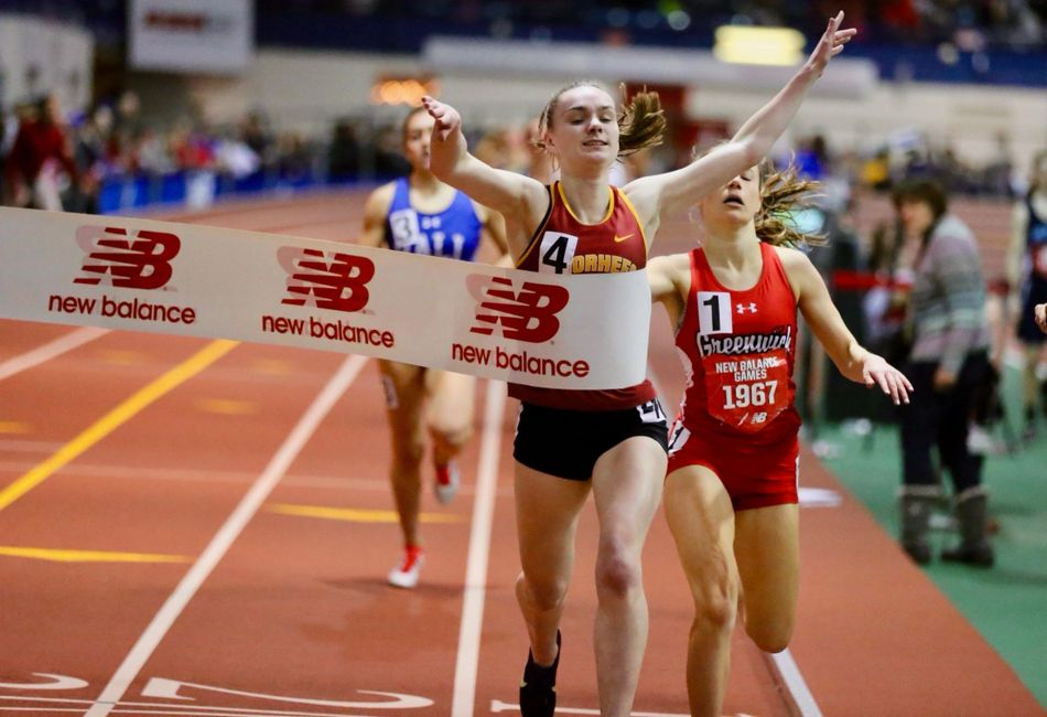 Emma McGill winning the 1-mile run at the 2020 New Balance Games in NYC!!!