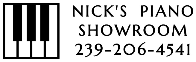 Nick's piano showroom  239-206-4541