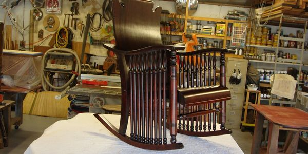 repaired and restored rocking chair