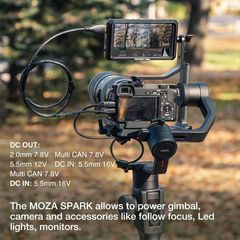 MOZA Air 2 with iFocus-M Wireless Motor, 3-axis Gimbal Stabilizer, 9Lb Payload 8 Follow Modes 16h Ru