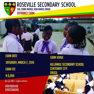 Admission Flier for Roseville Secondary School
