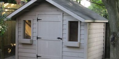 Garden Shed custom built with single door.