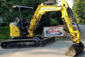 Yanmar VIO-35 Mini Excavator Weighs approx 8,500 lbs 4 way angle grading blade thumb 3 buckets