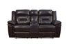 Chocolate Top Grain Leather (Love Seat Console, Cupholders and Storage)