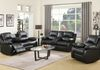 Black Faux Leather (Sofa Drop Down Cupholders & Love Seat Console with Cupholders and Storage) + ($299 Additional Chair)