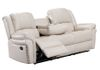 Ivory Faux Leather (Sofa Drop Down Cupholders)