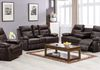 Chocolate Leather Gel (Sofa Drop Down Cupholders & Love Seat Console, Cupholders and Storage) + ($299 Additional Chair)