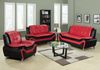 8162 Model Combined Red & Black Faux Leather