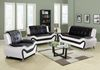 8163 Model Combined White & Black Faux Leather