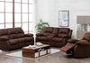 Chocolate Suede (Sofa Drop Down Cupholders & Love Seat Console with Cupholders and Storage) + ($299 Additional Chair)