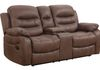 Chocolate Fabric (Love Seat Glider, Console, Cupholders and Storage)