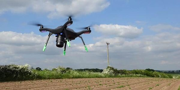 Drone monitoring potato crops