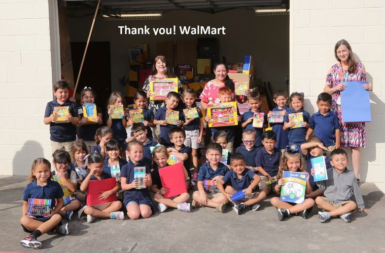 "St. Mary's Students give Walmart a ""Thank you shout out!"