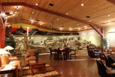 The unique River Room at The North Platte Outpost by Cheyenne Ridge Outfitters