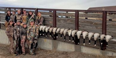 Goose hunting at The North Platte Outpost by Cheyenne Ridge Outfitters
