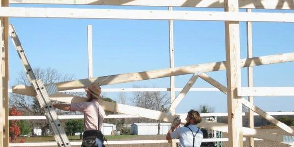 Amish pole building