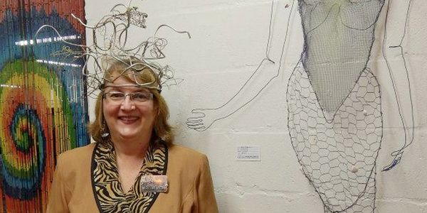 Judy in her Medusa headdress