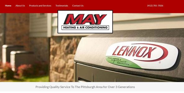 May heating and cooling allison park, pa