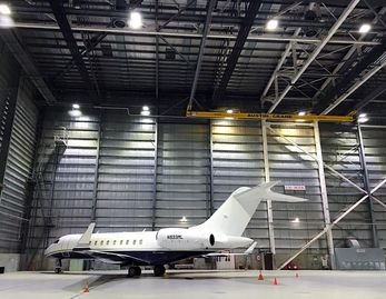 SES Lighting provides Arrlux fixtures for airplane hanger projects