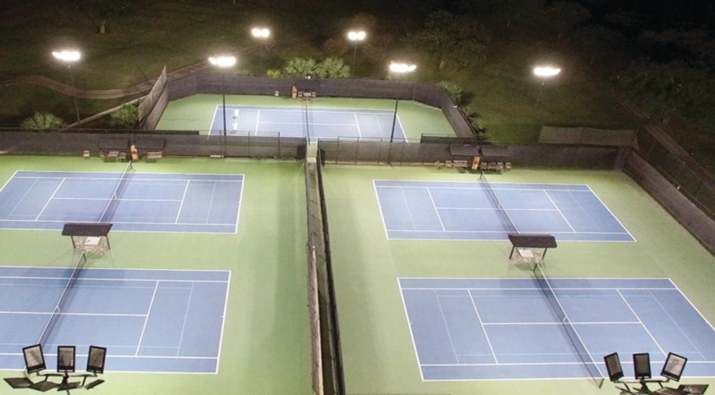 San Antonio Country Club tennis sports lighting with Arrlux Fixtures provided by SES Lighting