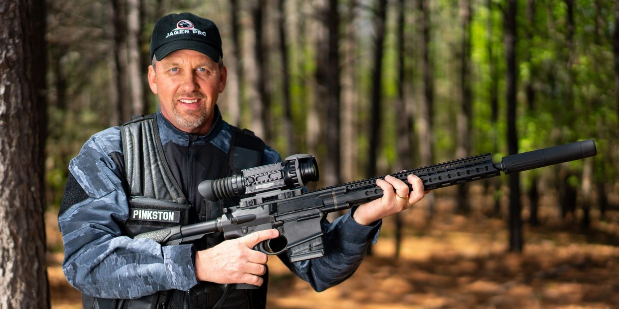 Jager Pro founder Rod Pinkston with his AR-10
