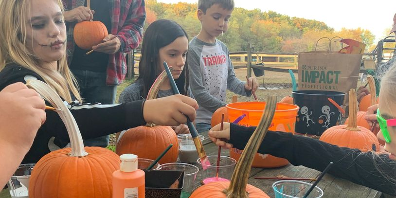 Pumpkin painting at our Halloween Parade