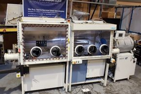 Used 5 port MBraun™ Labmaster Glovebox System with Vacuum Oven