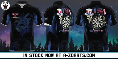 Magic Wear Sports Apparel USA Darts Production Custom Jersey Available for Purchase Now at A-ZDarts.