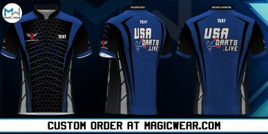 Magic Wear Sports Apparel USA Darts Production Custom Jersey V2 Available for Custom Order.