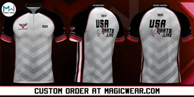 Magic Wear Sports Apparel USA Darts Production Custom Jersey V3 Available for Custom Order.