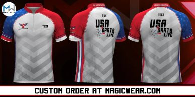 Magic Wear Sports Apparel USA Darts Production Custom Jersey V4 Available for Custom Order.