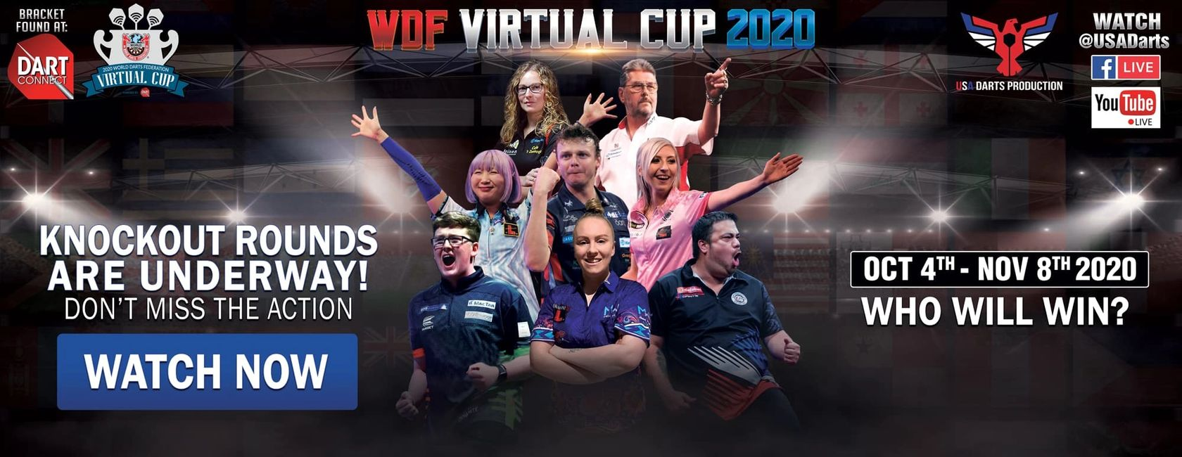 WDF Virtual Cup of darts streamed by USA Darts Production