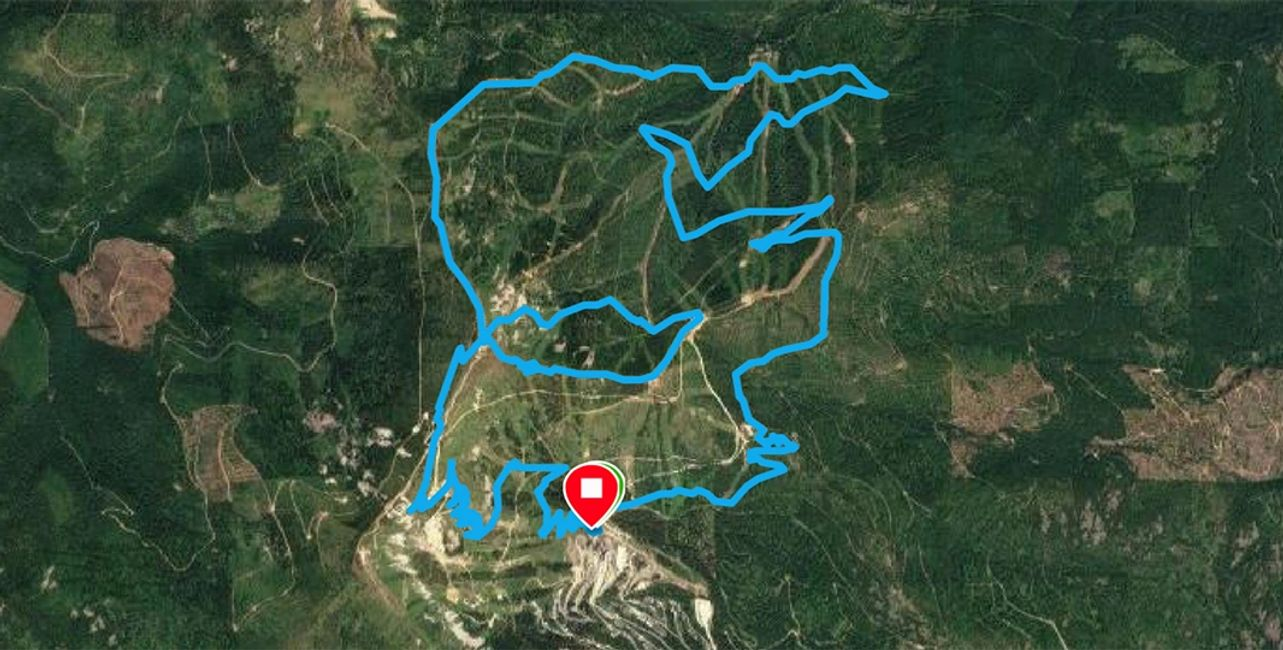 Race the Wolf 26km course map