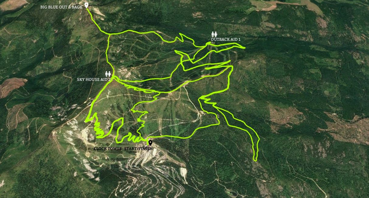 Race the Wolf 52km course map