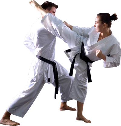 Zen Mixed Martial Arts karate students sparring.