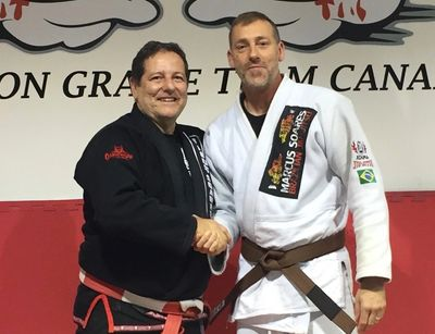 Marcus Soares and David Dash.  Carlson Gracie Brazilian Jiu-Jitsu teachers.