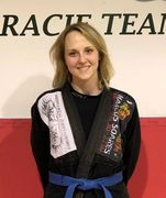 Claire Huston.  Brazilian Jiu-Jitsu instructor at Zen Mixed Martial Arts in Ottawa.