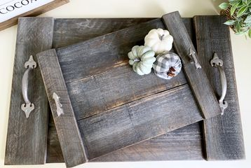 Various colors available:  Mocha Gray White  Mixed weathered woods (shown)