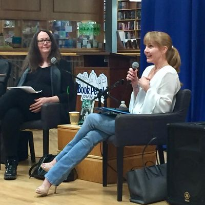 Loris Lowe and Kristin Casey at BookPeople book release reading, 2018
